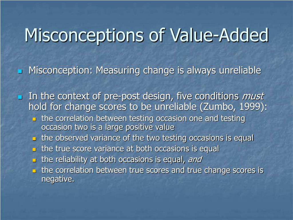 Misconceptions of Value-Added