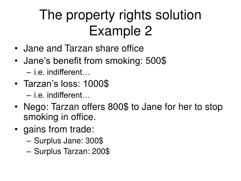 The property rights solution