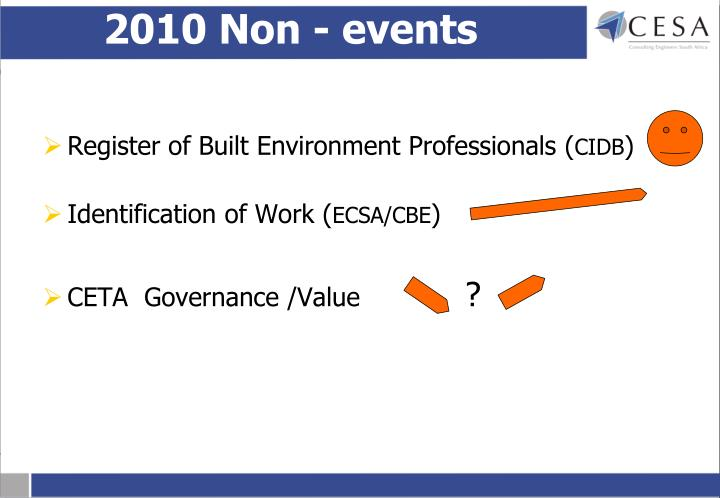 2010 Non - events