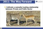 2011 the way forward10