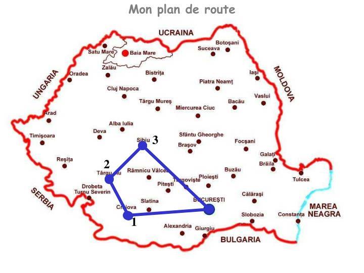 Mon plan de route
