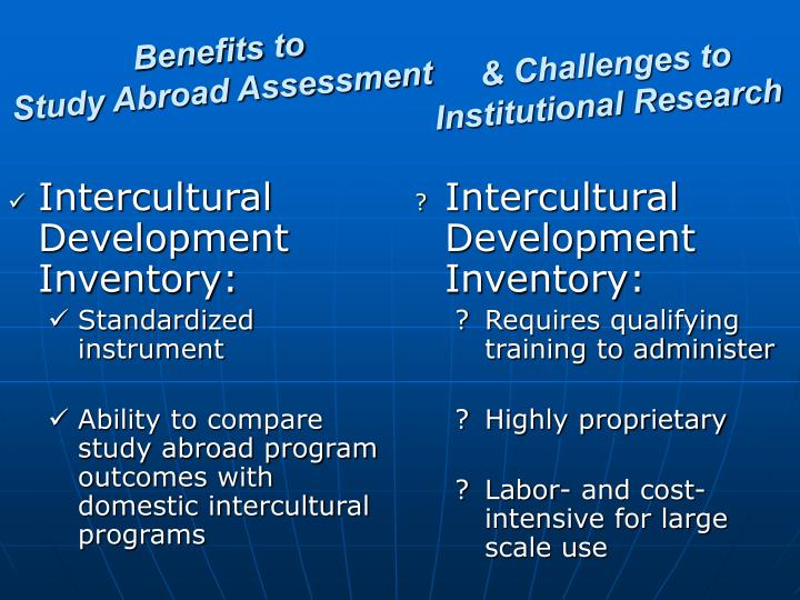 Intercultural Development Inventory: