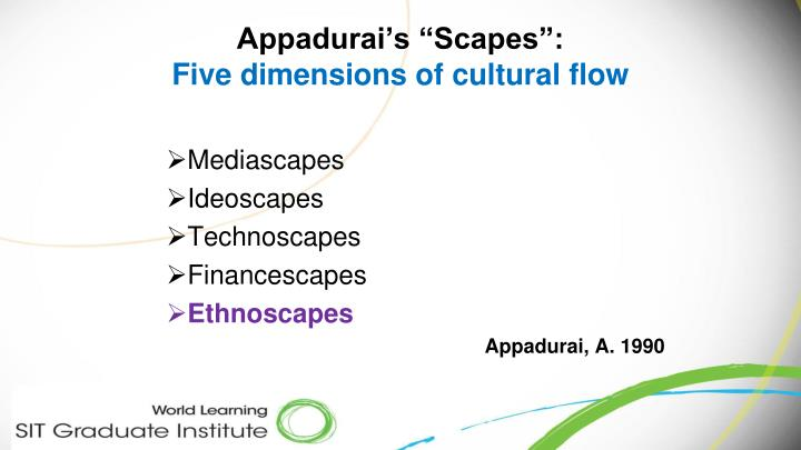 "Appadurai's ""Scapes"":"