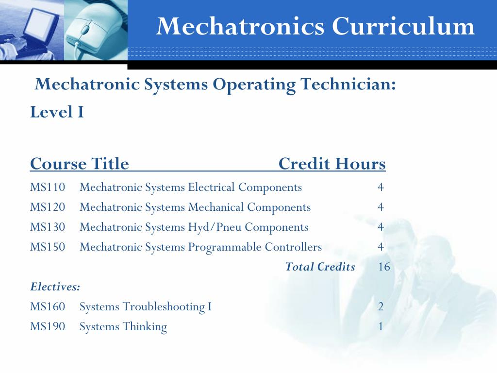 Mechatronics Curriculum