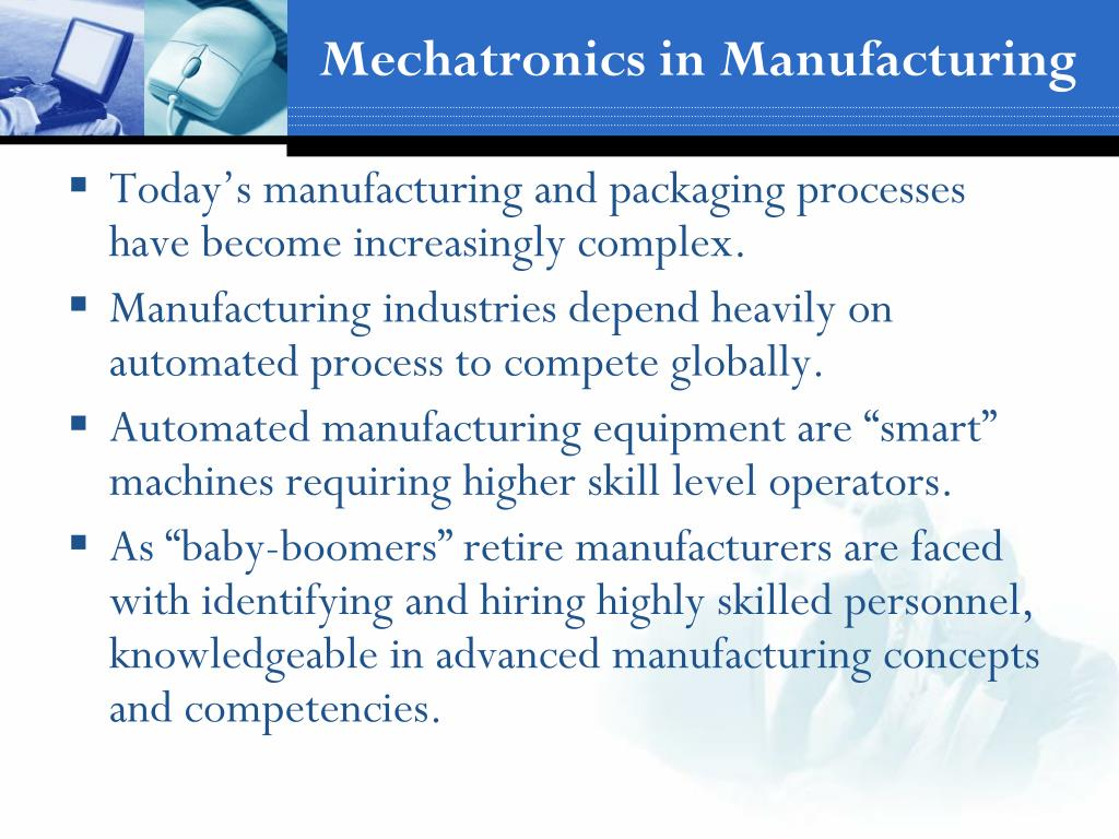 Mechatronics in Manufacturing