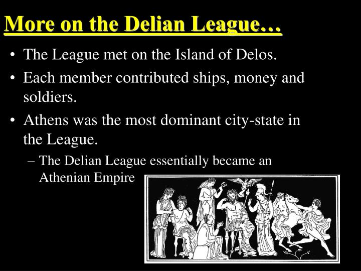 More on the Delian League…