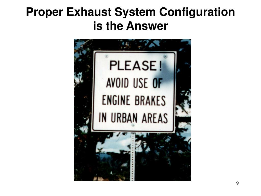 Proper Exhaust System Configuration