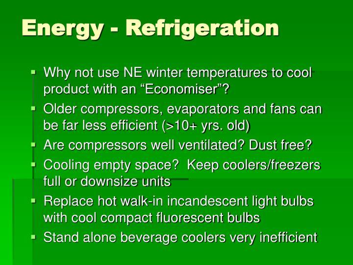 Energy - Refrigeration