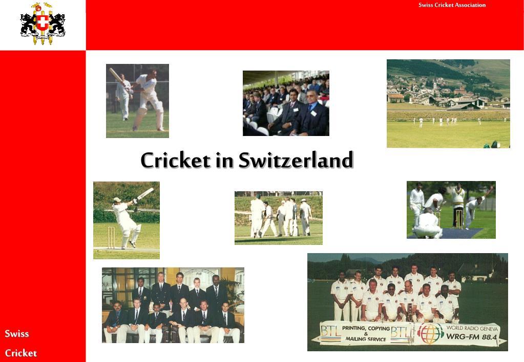 Cricket in Switzerland