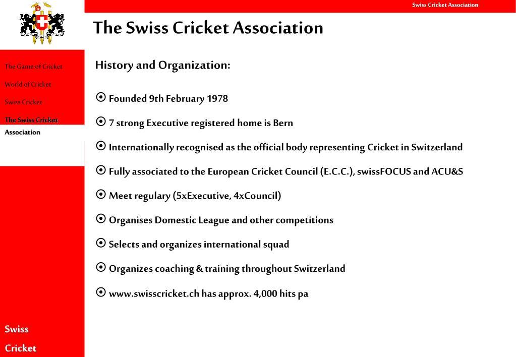 The Swiss Cricket Association