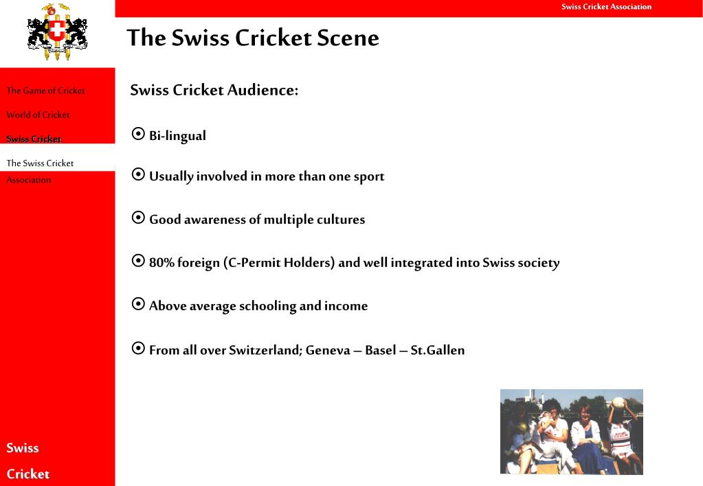 The Swiss Cricket Scene