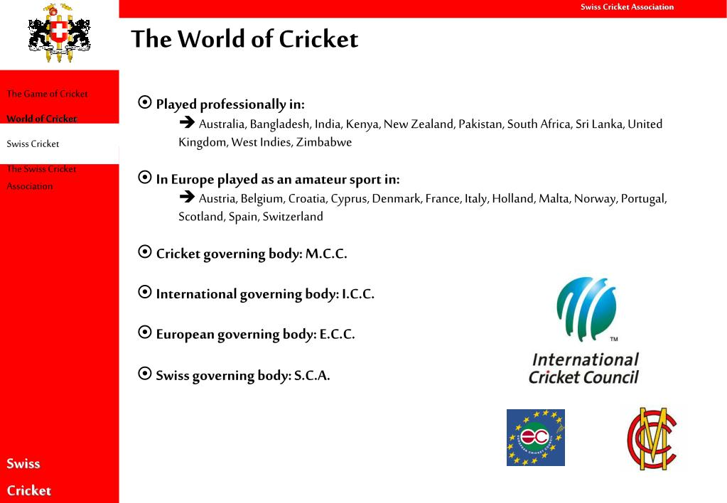 The World of Cricket