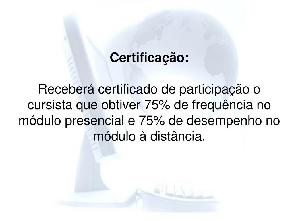 Certificação:
