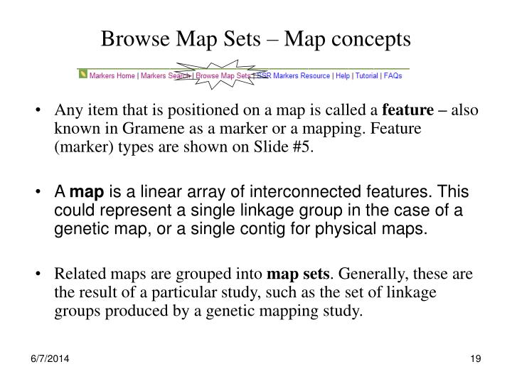 Browse Map Sets – Map concepts