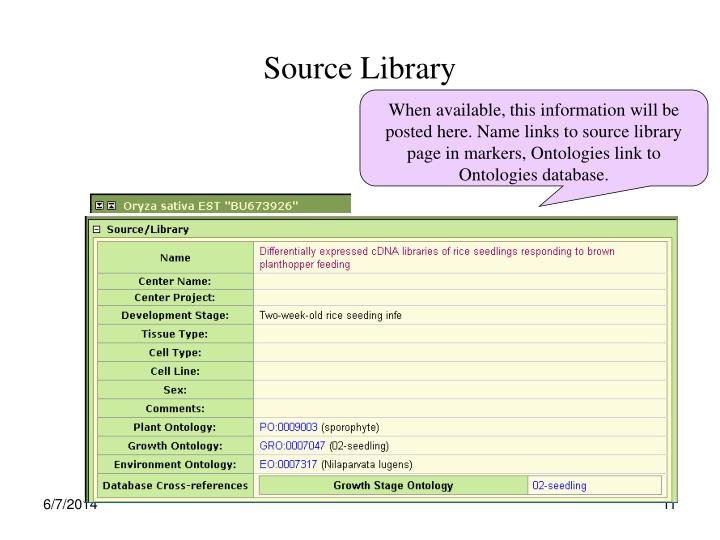 Source Library