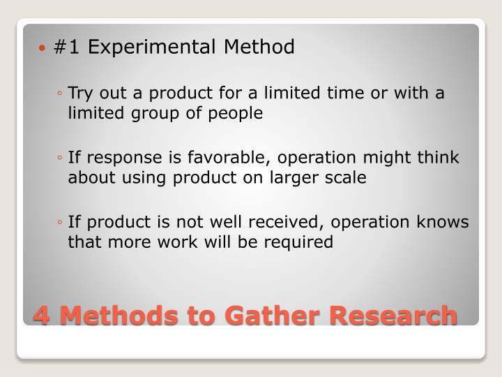 #1 Experimental Method