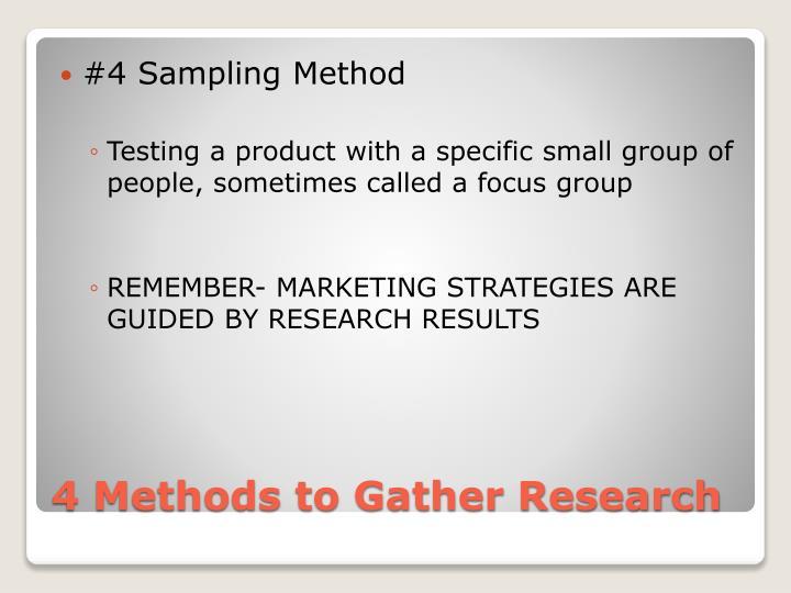 #4 Sampling Method