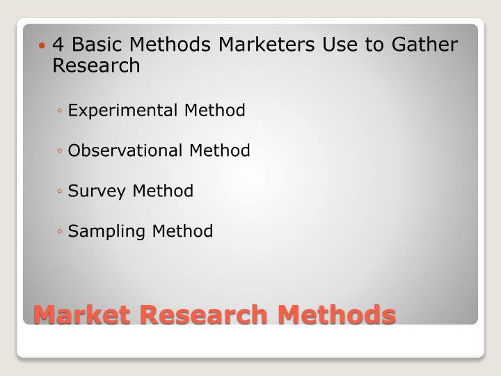4 Basic Methods Marketers Use to Gather Research
