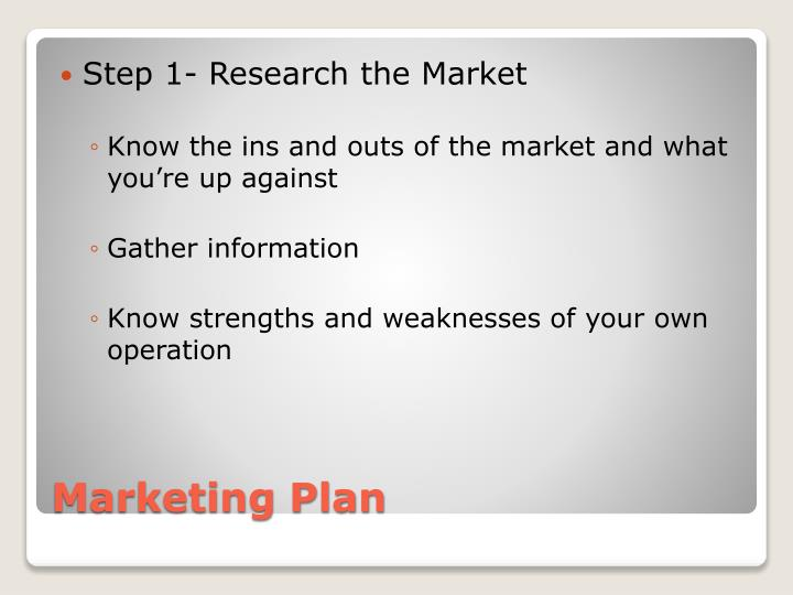 Step 1- Research the Market