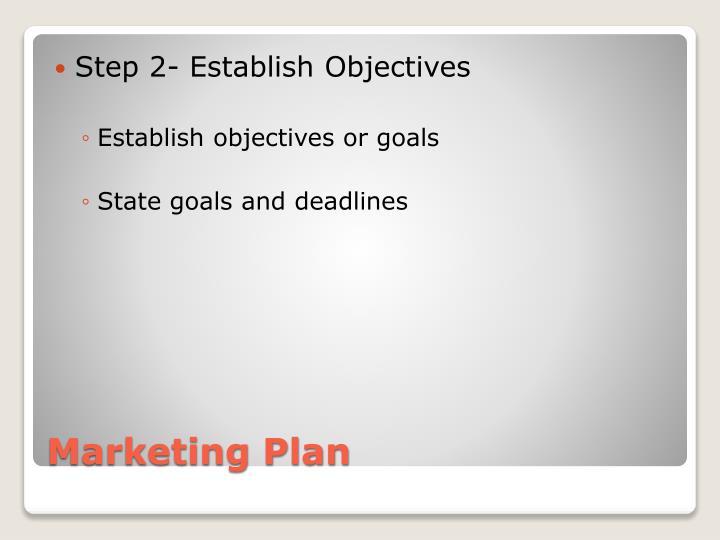 Step 2- Establish Objectives