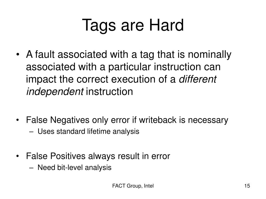 Tags are Hard