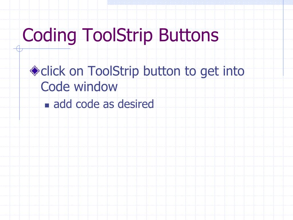 Coding ToolStrip Buttons