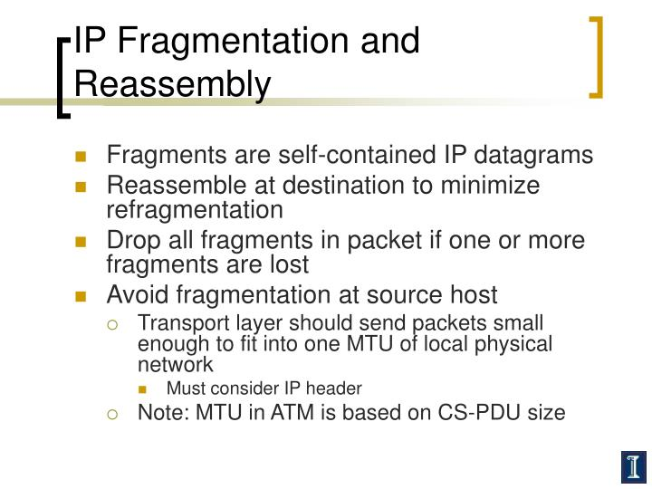 IP Fragmentation and Reassembly