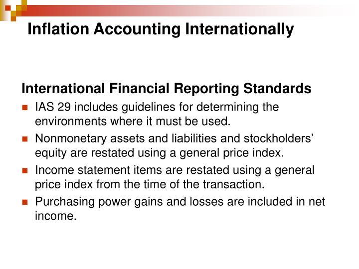 Inflation Accounting Internationally