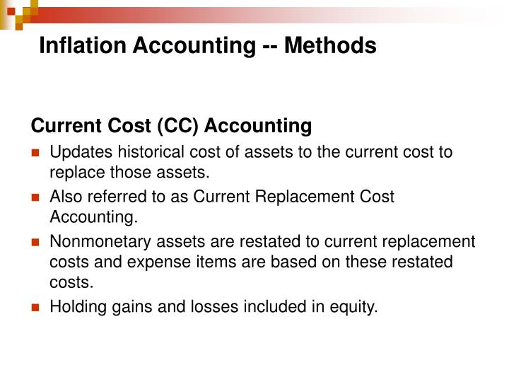 Inflation Accounting -- Methods