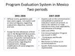 program evaluation system in mexico two periods