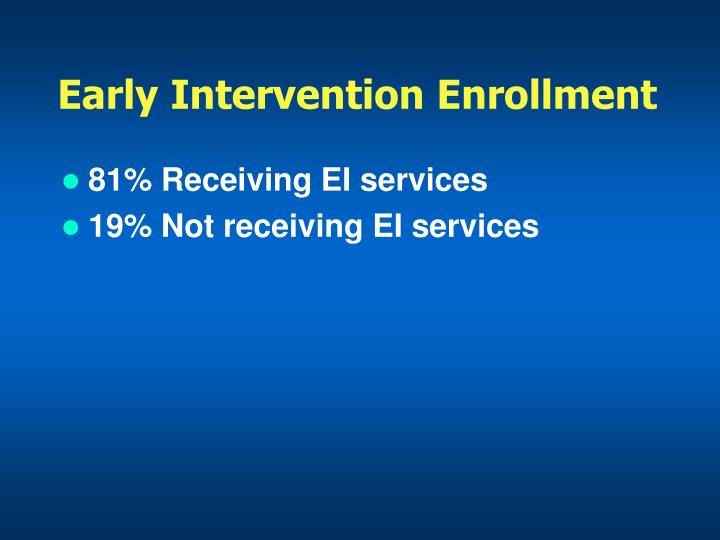 Early Intervention Enrollment