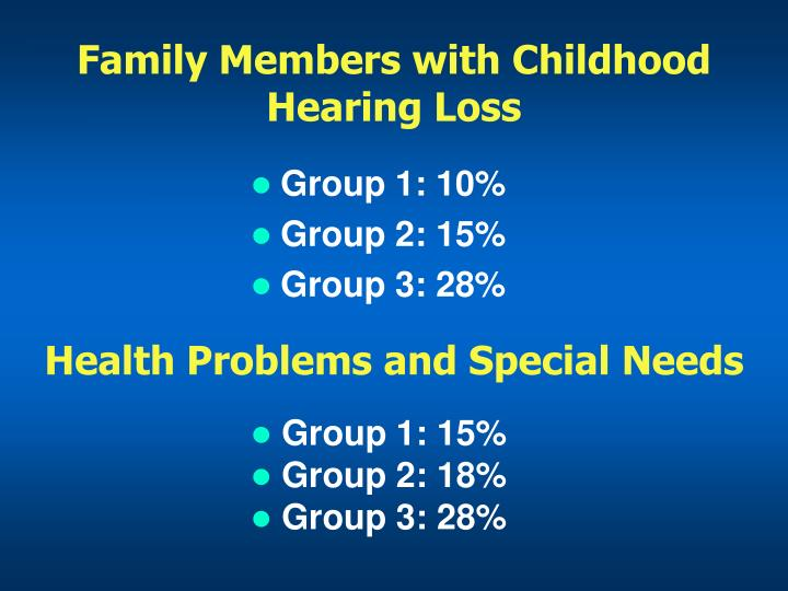 Family Members with Childhood Hearing Loss