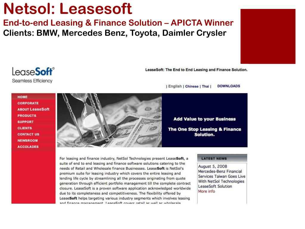 Netsol: Leasesoft