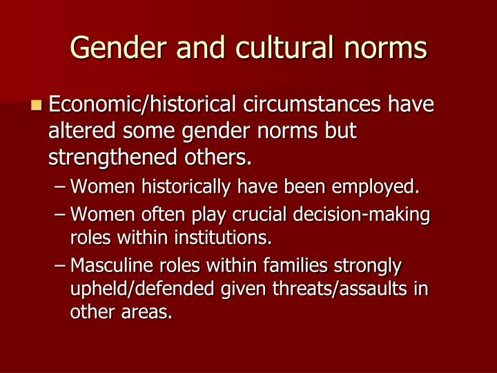 gender norming Gender norming (final) matt amos what exactly is a standard according to webster's dictionary, a standard is a level of quality or excellence that is accepted as the norm or by which actual.