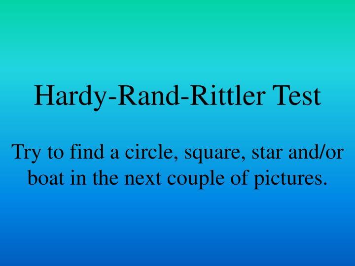 Hardy-Rand-Rittler Test
