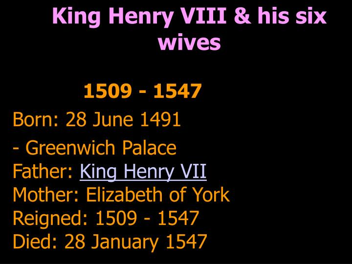 King Henry VIII & his six wives