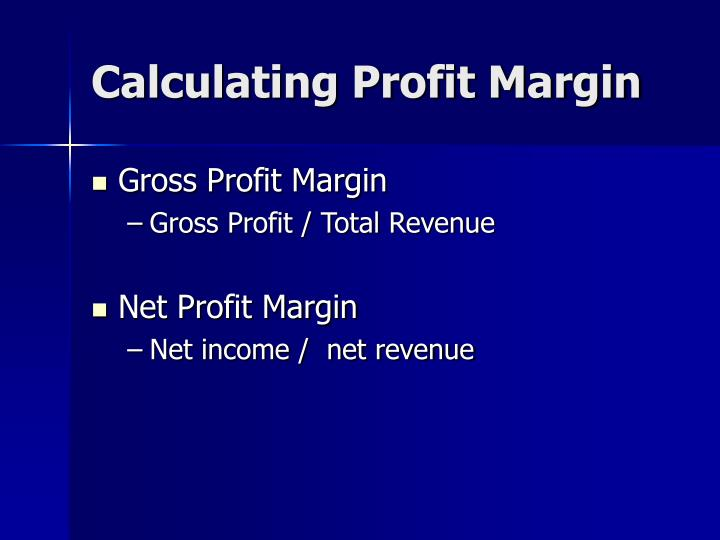 Calculating Profit Margin