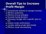 overall tips to increase profit margin