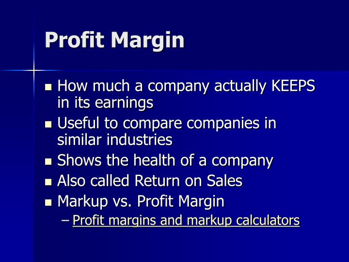 Profit margin1