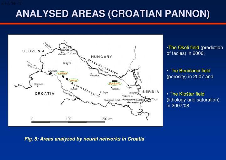 ANALYSED AREAS (CROATIAN PANNON)