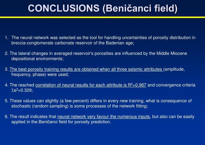 CONCLUSIONS (Beničanci field)