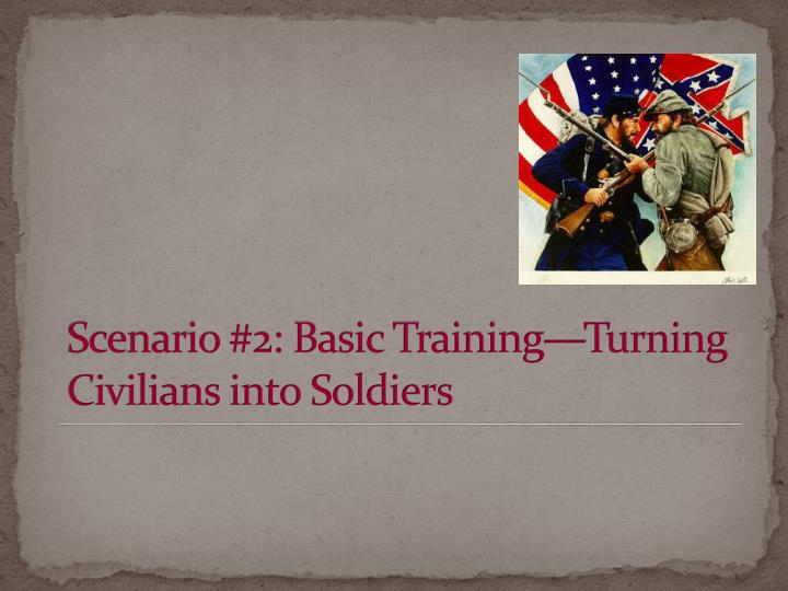 Scenario #2: Basic Training—Turning Civilians into Soldiers