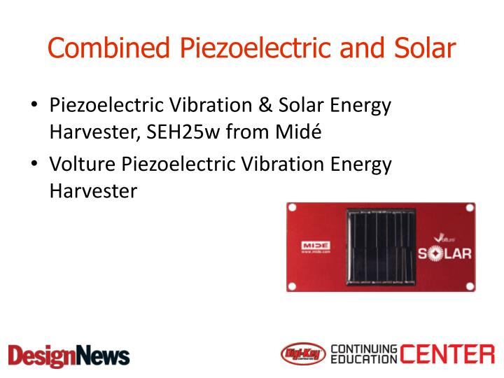 Combined Piezoelectric and Solar