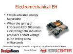 electromechanical eh
