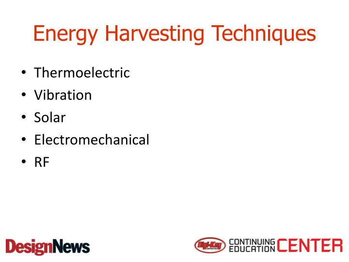 Energy Harvesting Techniques