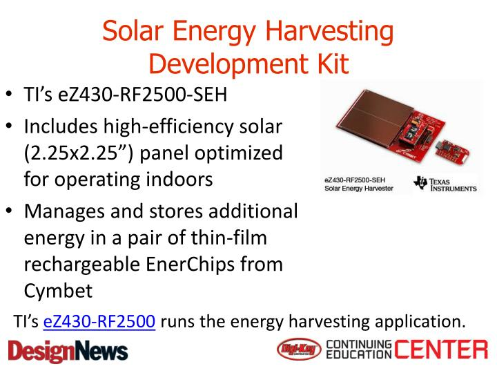 Solar Energy Harvesting Development Kit