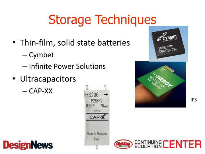 Storage Techniques