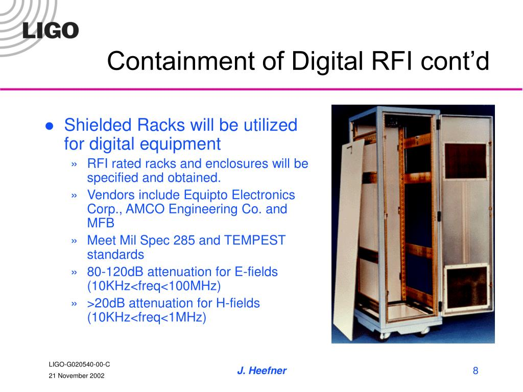 Containment of Digital RFI cont'd