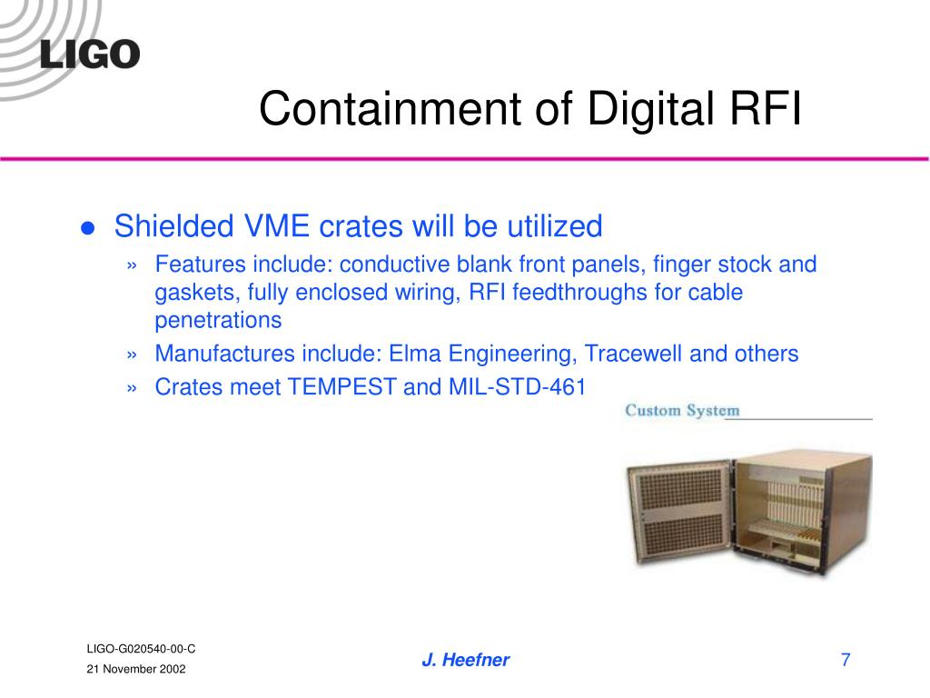 Containment of Digital RFI