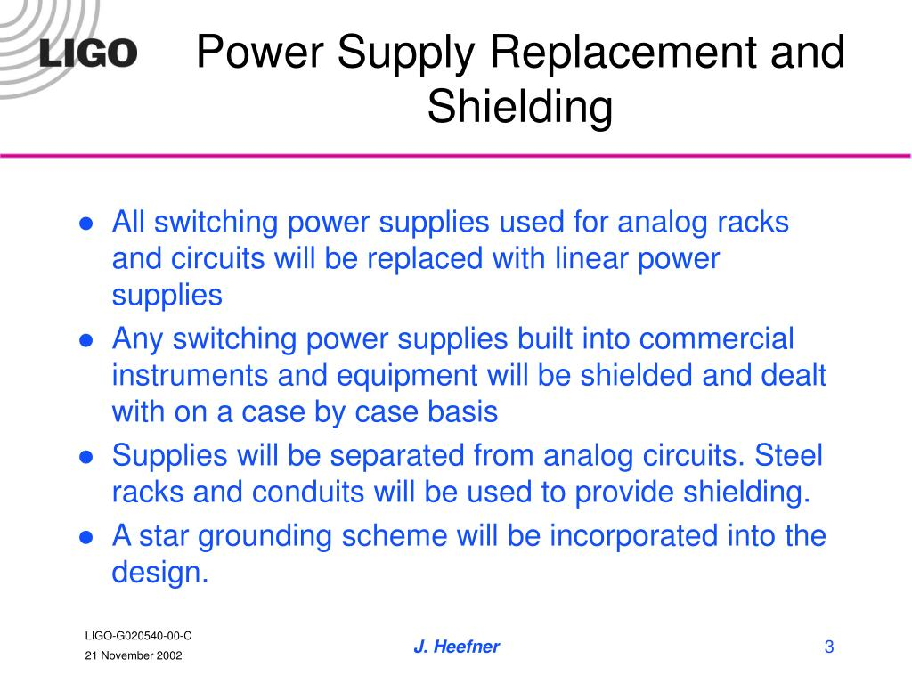 Power Supply Replacement and Shielding